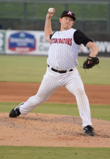 Erik Johnson made eight starts for the Intimidators in 2012 before earning a mid-season promotion to High-A Winston-Salem.