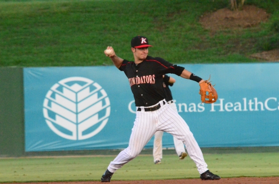 Eddy Alvarez joined Kannapolis on Monday from the AZL White Sox and immediately made an impact.