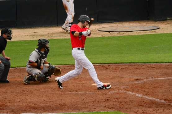 Louie Lechich hit his fourth home run of the season on Sunday.