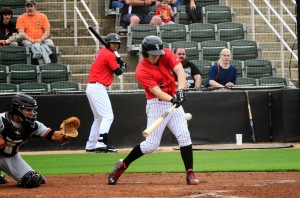 Toby Thomas has stayed hot at the plate for Kannapolis, hitting safely in his last nine games.