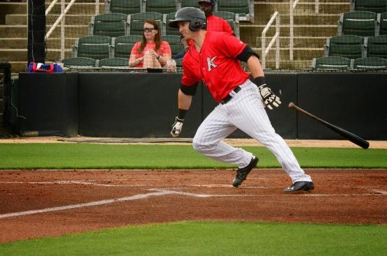 Chris Curley batting