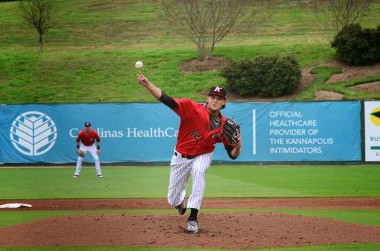 Spencer Adams pitching 2